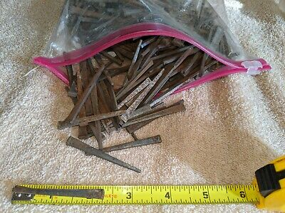 """2 1/4"""" Square Head Nails Approx 340 Iron Cut Nails"""