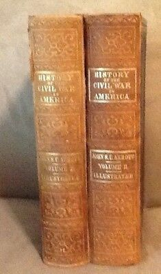 "Vintage ""The History Of The Civil War In America"", Complete In Two Volumes, Hard"