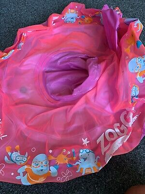 Zoggs Baby Swim Seat Pink Swimming Aid Rubber Ring