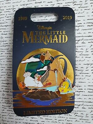 Disney Parks Authentic The Little Mermaid 30th Anniversary Pin Scuttle Flounder
