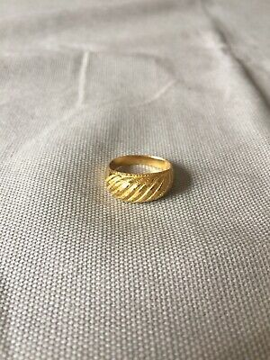 Dome Band Ring Size 7 22K Yellow Gold