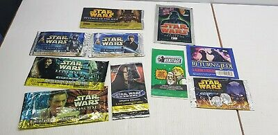 Star Wars Galaxy Series One Trading Cards EMPTY Packet//Wrapper #W123