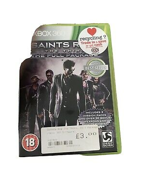 Saints Row The Third The Full Package Xbox 360 Classic Pal Game With Manual