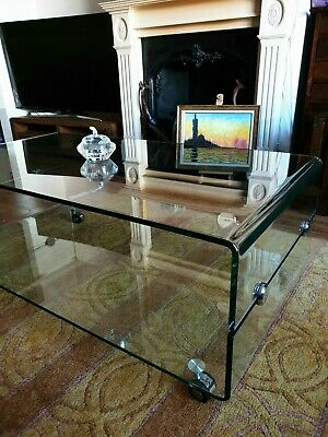 Glass Coffee Table Curved and Tempered Glass