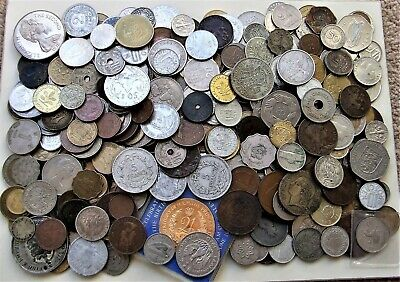 MIXEDWORLD COINSover 400 - incl. SILVER and RARE - Approx. 2Kg Wt.-Lot 141