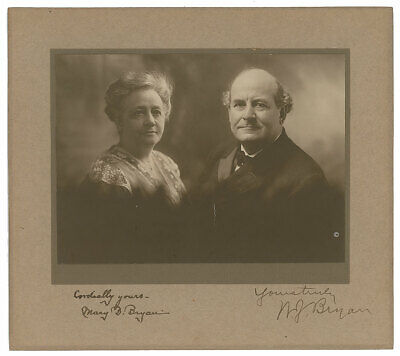 William Jennings Bryan Signed Photograph