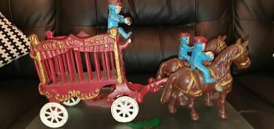 Vintage Cast Iron Overland Toy Circus Wagon