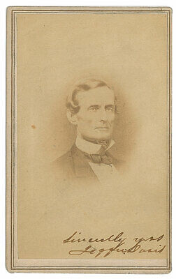 Uncommon Jefferson Davis Signed Photograph