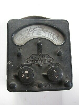 Vintage Universal AVOmeter Model 7 WITH ITS LEADS!