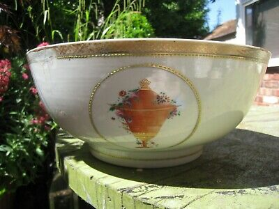 Antique Chinese Chien Lung 18Th Century Armorial Bowl European Style Decoration.