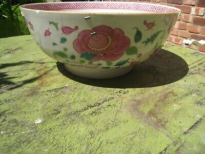 Antique Chinese Chien Lung 18Th Century Bowl With Famille Rose Enamels.