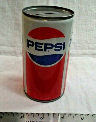 Pepsi cola soda pop can bank from the 80's