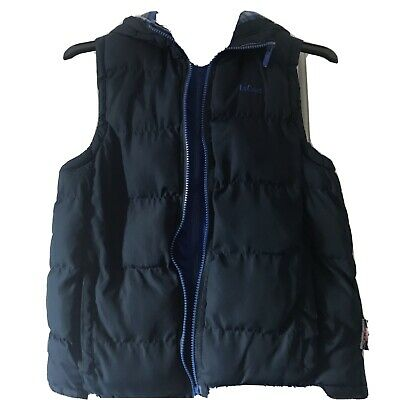 Boys Navy Blue Gillet/ Body Warmer with hood Lee Cooper Age 11 - 12 Years