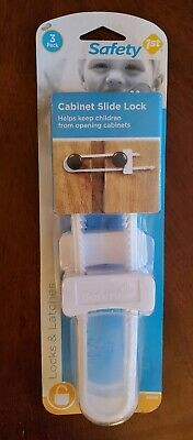 NEW! Safety 1st Flex Cabinet Slide Locks 3 In A Pack FREE SHIPPING!