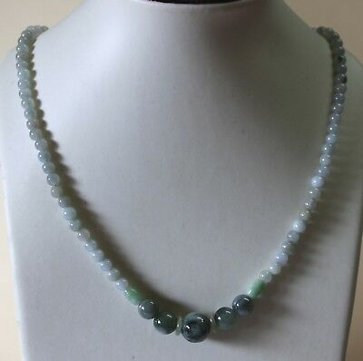 """Genuine Natural Jadeite Type A Chinese JADE Multi-Color Beads Necklace 20"""" #N209"""