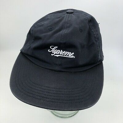 SUPREME Script Cotton Fitted Cap Size M Box Logo Camp Hat
