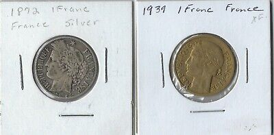 Lot Of 2 France Coins - 1939 1 Franc And 1872 1 Franc