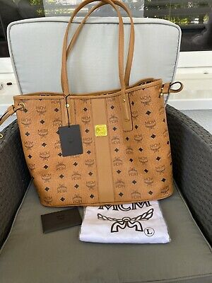 MCM SHOPPER LIZ VISETOS Shopping Bag Medium Cognac inkl