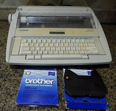 Vintage Brother Correctronic GX-8250 Electric Typewriter With 2 New Cartridges