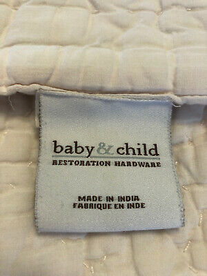 RH Baby&Child Heirloom Quilted Voile Crib Quilt~ Petal Pink