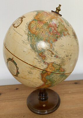 "Replogle World Ocean Series Raised Relief 12"" Globe Earth Planet Map Pepsi"