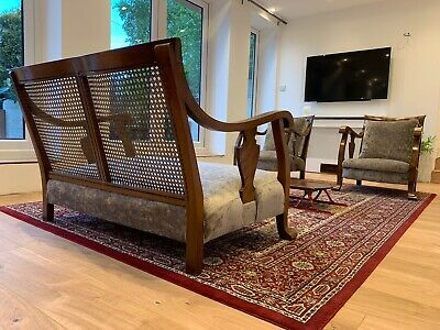 Bergere 3 piece suite, Sofa,2 Chairs, Restored,Mid Century, Ercol, G Plan,