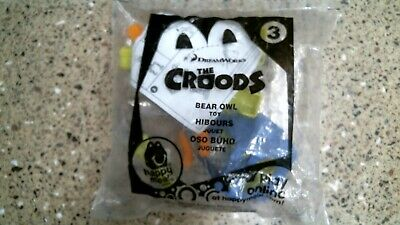 Dreamworks The Croods Bear Owl #3 McDonald/'s Happy Meal Toy 2013