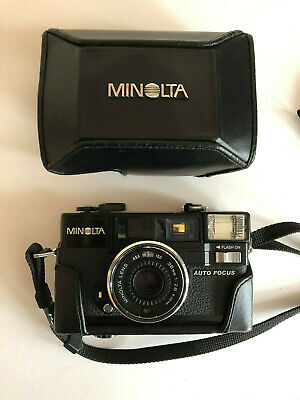 Classic Original Vintage MINOLTA Hi-Matic AF2 Camera with Case & Strap Photo OOP