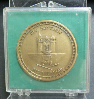 1970 Old Monterey 200th Anniversary Bicentennial Bronze Medal Medallic Art Co