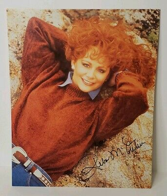 Vintage 1980's Reba McEntire Signed 8X10 Photo Country Music Star Promo
