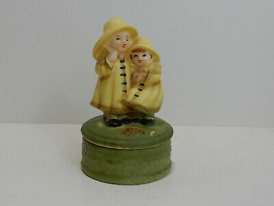 COLLECTIBLE  OCTAGON CARVING MUSIC BOX ♫ Raindrops Keep Falling On My Head  ♫