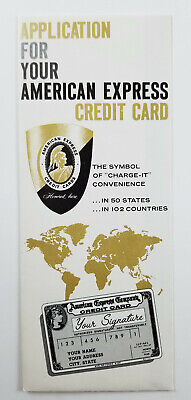 Vintage American Express Credit Card Application Brochure Form Unused Circa 1959