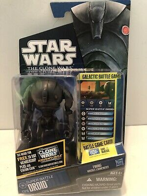 Star Wars The Clone Wars  2010 Super Battle Droid Action Figure CW16 Great Shape