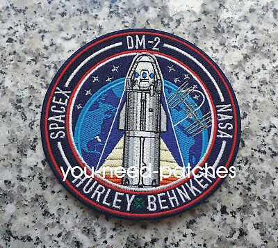 NASA Space X F9 Demo-2 Hurley Behken First Crewed Flight Mission To Space Patch