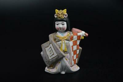 E478: Japanese Pottery Woman sculpture cute DOLL made of clay Tea Ceremony