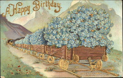 Happy Birthday Antique Postcard Vintage Post Card