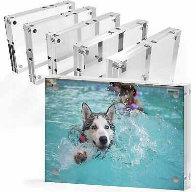 Mammoth AAA Grade Acrylic Picture Frame, Thick and Heavy Frameless Block Display