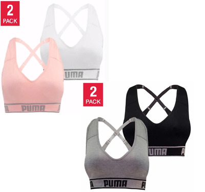 Clothing Shoes Accessories Sports Bras Women S Puma Medium Impact Seamless Sports Bra 2 Pack Variety Size Color Nwt Sraparish Org