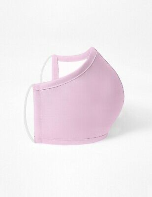 Washable Face Mask Light-Pink Unisex Antimicrobial Soft Scrub Fabric USA Seller