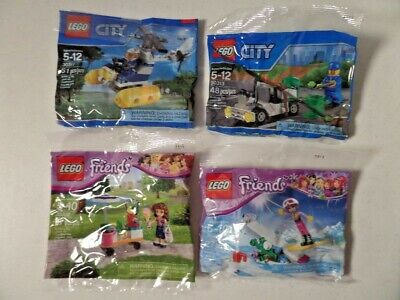 LEGO Polybags - 2 City & 2 Friends - Lot of 4 - RETIRED