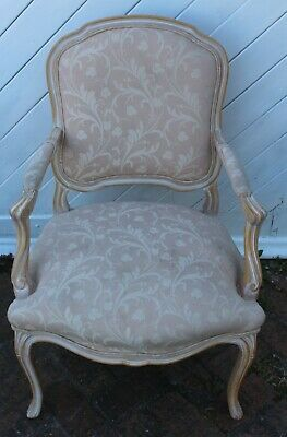 1940s French Louis XV style Armchair Floral Upholstery