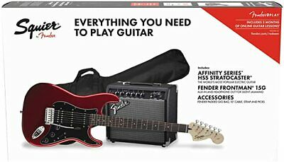Fender Squier Affinity HSS Strat Pack - Candy Apple Red - With Frontman 15G Amp