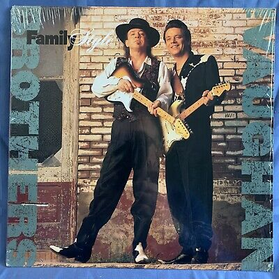 """The Vaughan Brothers """"Family Style"""" 1990 Vinyl LP Shrink Wrap Stevie Ray"""