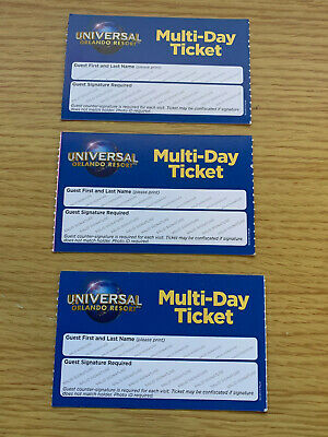 Universal Studios Orlando Tickets 14 Day/3 Parks. 3 Adults