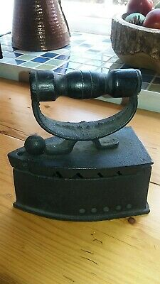 Antique Vintage Hot Coal Clothes Press Iron