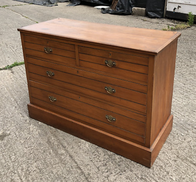 Antique Edwardian Satin Wood Chest Of Drawers