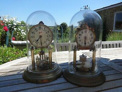 Antique Schatz and Phillip Haas Anniversary 400 Day Mantel Clocks Spares Repair,