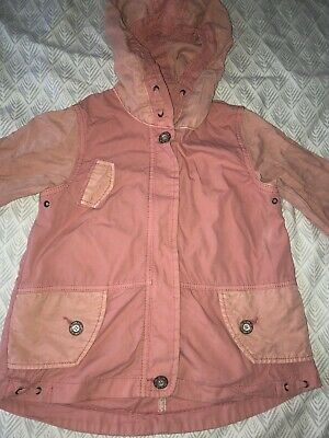 Next Girl's Pink Coral Ombre Lightweight Jacket Parka Coat 3-4 Years