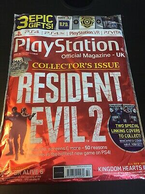 Resident Evil 2 Remake PS4 OPM Sealed Rare Magazine With Collectors Goodies!