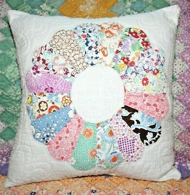 NEW Throw Pillow Made From Vintage 1930's Handmade Quilt DP14-H